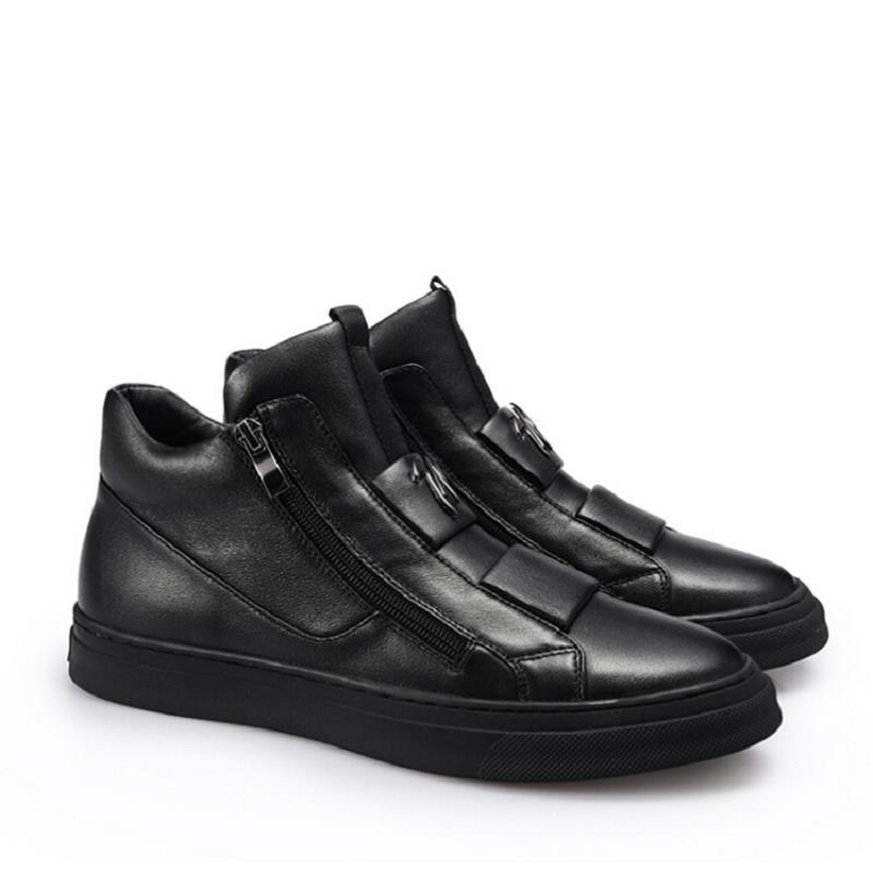 Clásicos Los Zapatos Casuales Masculino Negro Lujo Northmarch Mocassim Cuero Hombres Pisos Con De Cremallera Marca Masculina Nuevos Xwtw4qE