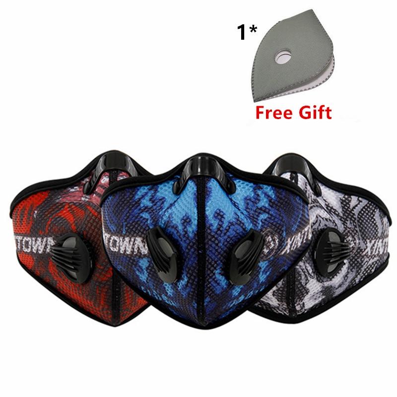 Prix pour XINTOWN Anti-Pollution Vélo Masque Bouche-Moufle Poussière Masque Anti-Poussière Vélo De Montagne Sport Route Vélo Masques Face Cover