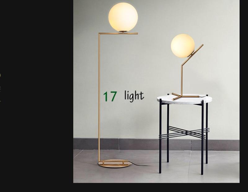 Woonkamer Staande Lamp : Creatieve eenvoudige vloer lampen glas bal staande lamp chrome