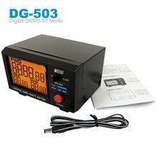LCD ekspozytor stojący współczynnik fali Nissei DG 503 cyfrowy SWR i watomierz 1.6 60 MHz/125 525 MHz 200W dla dwukierunkowego radia Walkie Talkie