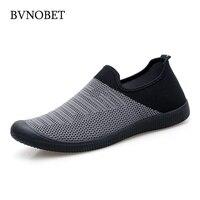 BVNOBET/Мужская обувь; летние мужские кроссовки с дышащей сеткой; обувь без шнуровки высокого качества; Мужская обувь; Zapatillas Deportivas Hombre