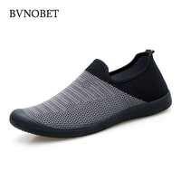 BVNOBET zapatos de Hombre de verano de malla transpirable Zapatillas de deporte de alta calidad zapatos de Hombre Zapatillas Deportivas
