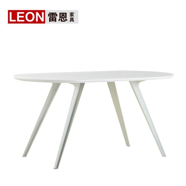 Simple moderna rectangular de comedor mesa de conferencia mesa de ...