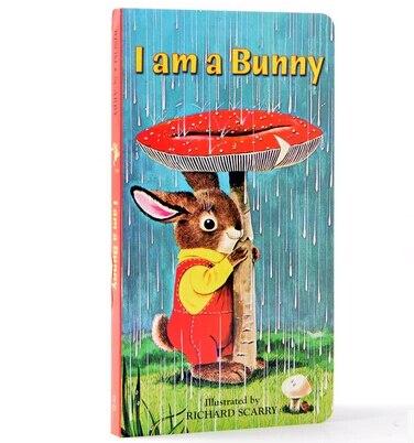 eu sou um coelho classico quente original educacional bebe placa livro ingles imagens livro sentir