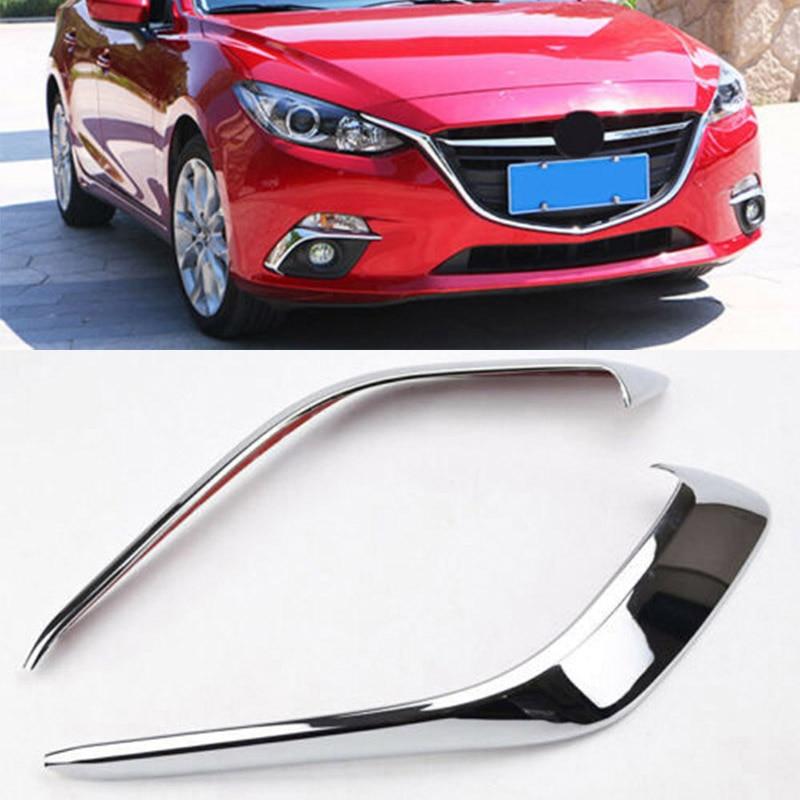 New Chrome Front Fog Light Trim for Mazda 3 M3 Axela 2014 2015 2016