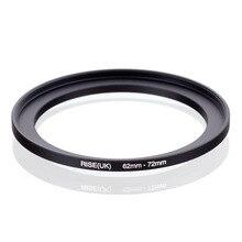 Original AUFSTIEG (UK) 62mm 72mm 62 72mm 62 bis 72 Step Up Ring Filter Adapter schwarz