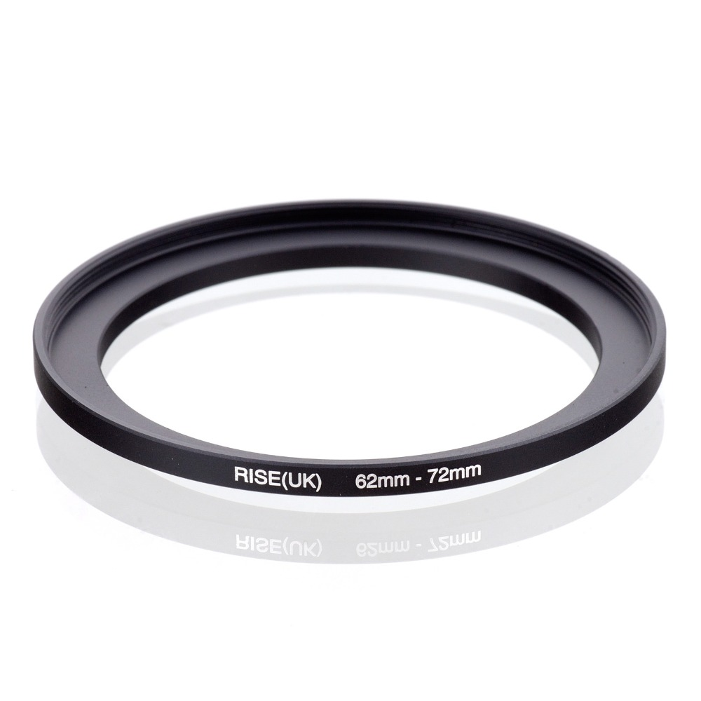 original RISE(UK) 62mm-72mm 62-72mm 62 to 72 Step Up Ring Filter Adapter black free shipping светофильтр fujimi nd32 72mm
