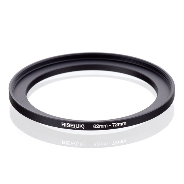original RISE(UK) 62mm 72mm 62 72mm 62 to 72 Step Up Ring Filter Adapter black