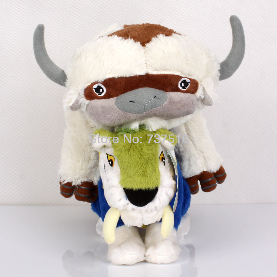 New Cute 20 Inch Appa Avatar & The Croods Tiger MACAWNIVORE Soft Stuffed Plush Animals Baby Toys Best X-mas Gift