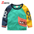T-shirt Boys Brand 2017 Spring New Fashion Cartoon Printing Kids Tshirt Long Sleeve O-neck Cute Kids Clothes Boys 4831W