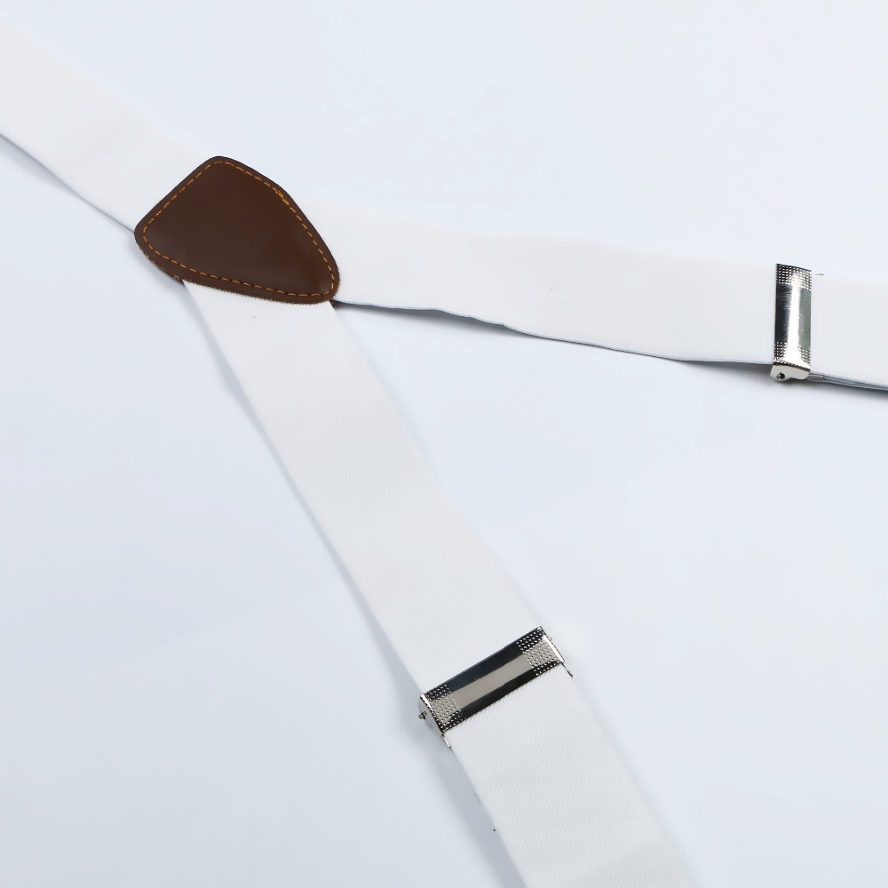 Новые мужские регулируемые кнопки для взрослых Пояса Подтяжки унисекс однотонные белые женские подтяжки BD706