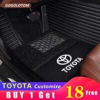 Пользовательские автомобильные коврики колодки для всех моделей Toyota Corolla Camry Rav4 Auris Prius Yalis Avensis 2014 авто аксессуары для укладки