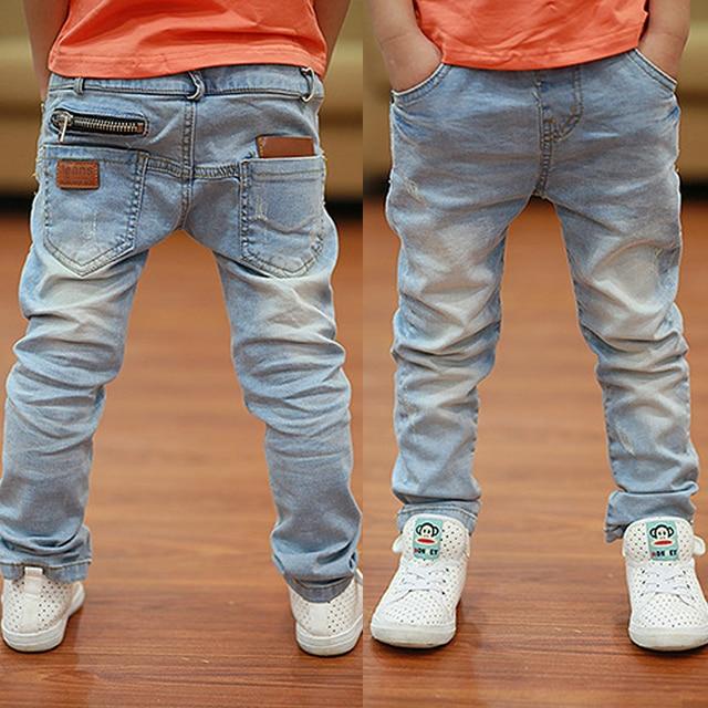 Платье 2017 Весна Осень новые мальчики джинсы Дети Бросились светлый мода Дети жан Брюки B135