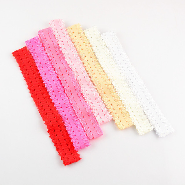 20PCS New Children s Lace Hair Band 15Colours Cute Wide Variety Of Plain  Fascinators Headband Baby Girl Hair Ties 503a8540dbc