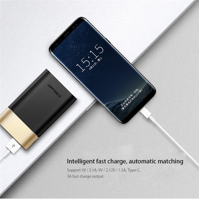 Teclast T100CK-G Power Bank 10000 mA Two-way Fast Charge Dual-input Compatible QC3.0 Support Type C & Micro Portable Charger