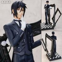 25cm Latest Black Butler Kuroshitsuji Sebastian Game Anime Action Figure PVC Toy A0412
