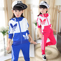 Spring and Autumn 2016 new children's clothing children's suits girls casual sportswear autumn paragraph Zhongda boy autumn