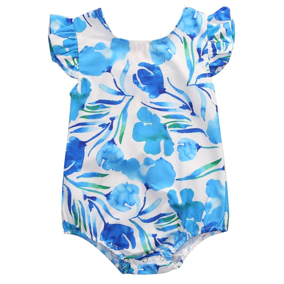 NEW Arrivals Newborn Kids Baby Girls Floral Romper Jumpsuit Sunsuit Clothes Summer One-piece