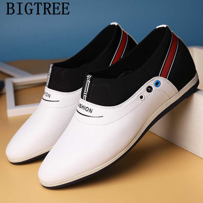 Lift schoenen voor mannen luxe merk heren casual schoenen hot koop mannen lederen schoenen zapatos de hombre chaussure homme ayakkabi bona