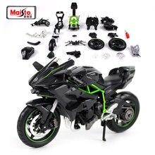 Maisto 1:12 Kawasaki Ninja H2R montaj DIY motosiklet bisiklet modeli kiti ücretsiz kargo yeni varış 39198