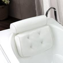 """Премиум спа подушка для ванны с 4 присосками """" толстый мягкий роскошный дизайн быстрая 2 панели для поддержки шеи плеча сушки"""