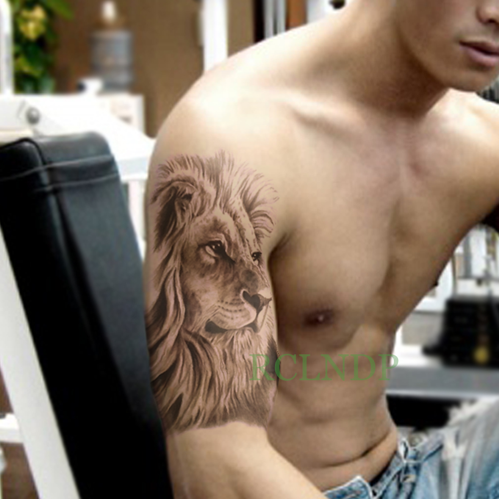 Waterproof Temporary Tattoo Sticker Lion King Tatto Stickers Flash Tatoo Fake Tattoos For Men Women