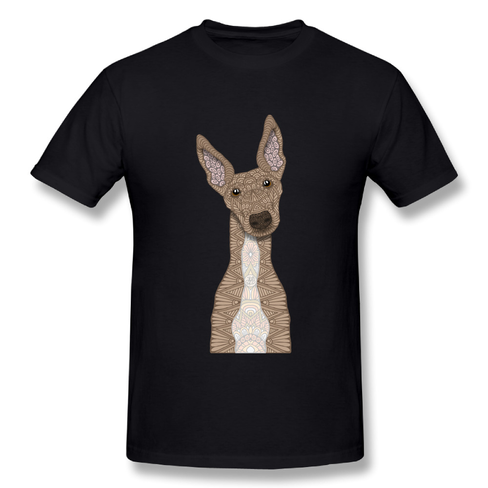 Cute Fawn & White Greyhound T-Shirt Cool Mens O-neck Design Short-sleeved Plus size T shirt Fashion