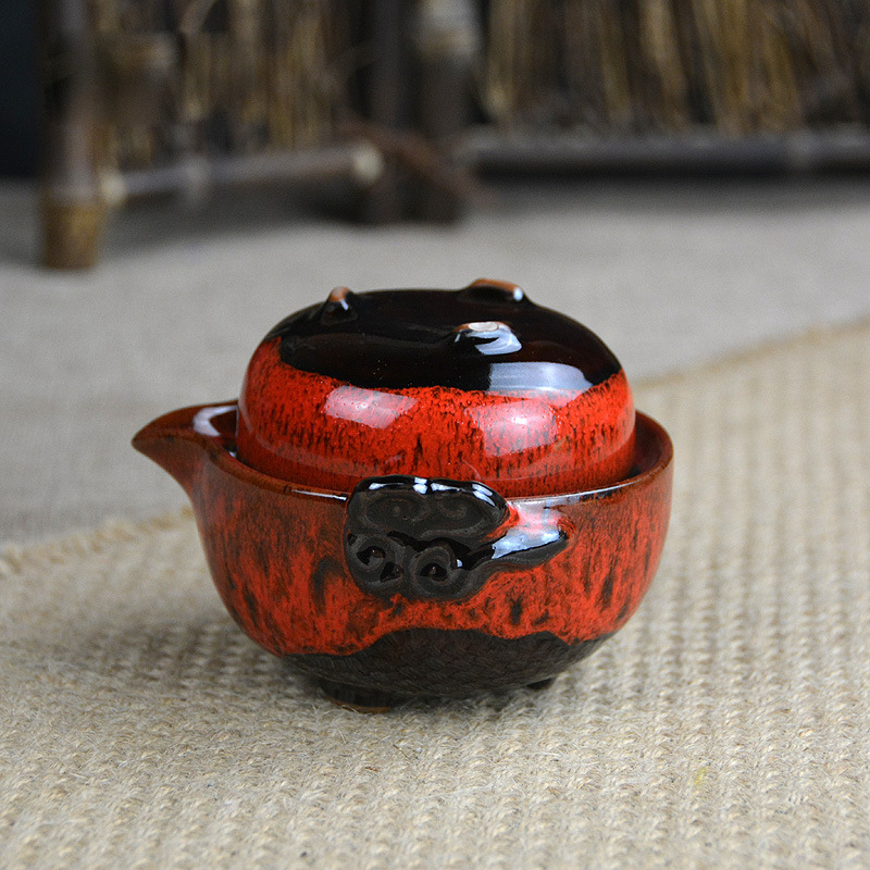 Beautiful Gong Fu Tea Ceremony Travel Teapot