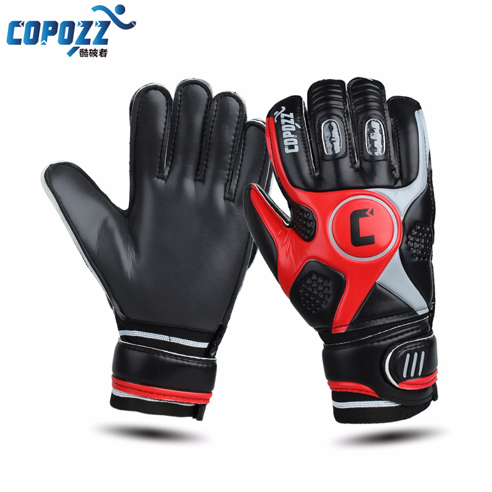 Brand professional soccer goalkeeper gloves 4mm thick latex gloves keeper finger dual protection goalie gloves size 9 цена