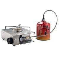 Adaptador de extensão durável de aço satinless do tubo 50/100cm da extensão dos acessórios do fogão a gás do acampamento caminhadas ao ar livre