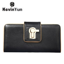 KEVIN YUN Fashion women wallets long hasp purse female clutch wallet multi credit card holder with phone holder pocket(China)