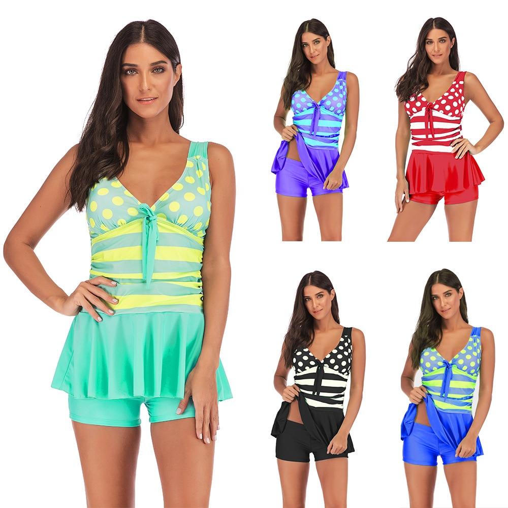 S-5XL Plus Size Bikini 2019 Skirt Swimwear Takini Set Push Up Swimsuit Tankini Female Bathingsuit Swimwear 2019 Wine Bikini