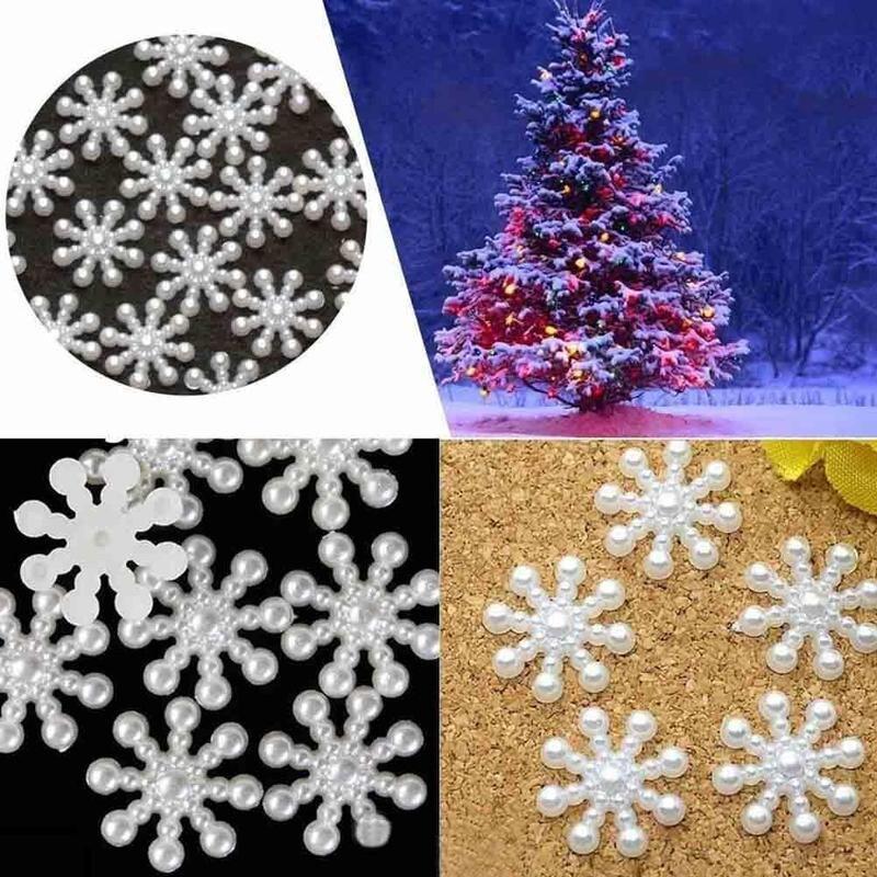 100 шт./лот/партия, искусственная Рождественская открытка со снежинками