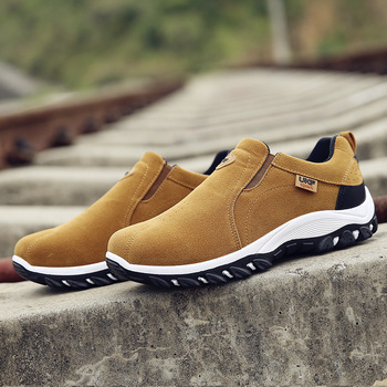 Walking Shoes Men Outdoor Men Casual Shoes Wear-resistant Anti-slip Man Footwear Slip on Breathable Loafers Male Sneakers youth casual loafers shoes black khaki lazy shoes male weight light half shoes comfortable anti slip men walking slippers shoes