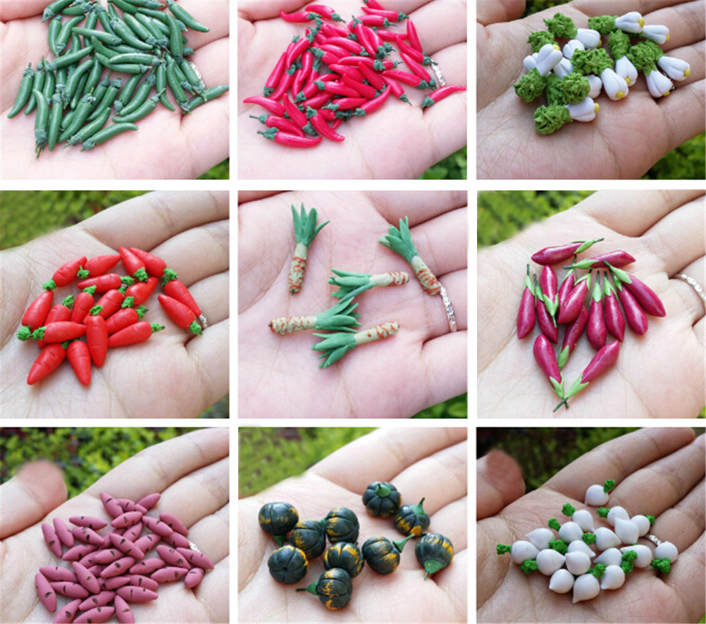 20 Dollhouse Miniature Radishes *Doll Mini Food Set Kitchen Vegetables Wholesale
