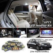 7X белые светодиодные с CANBUS салона комплект ламп для 2003-2016 2017 2018 2019 Toyota Corolla led интерьер купола магистральные огни
