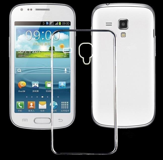 Ультра тонкий прозрачный чехол для Samsung Galaxy S3 мини <font><b>S3mini</b></font> i8190 Кристалл Вернуться Защитите каучук силиконовый чехол для телефона