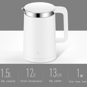 Image 4 - Oryginalny Xiao mi mi jia inteligentne termostatyczne elektryczne czajniki wodne 1.5L 12 godzin termostat wsparcie sterowania z inteligentnym mi aplikacja domowa