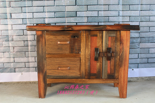 Nice Qinyuanchun Old Ship Solid Wood Furniture Pantry Cabinets Bedside Cabinet  Ship Wood Corner Cabinet Washing Sideboard