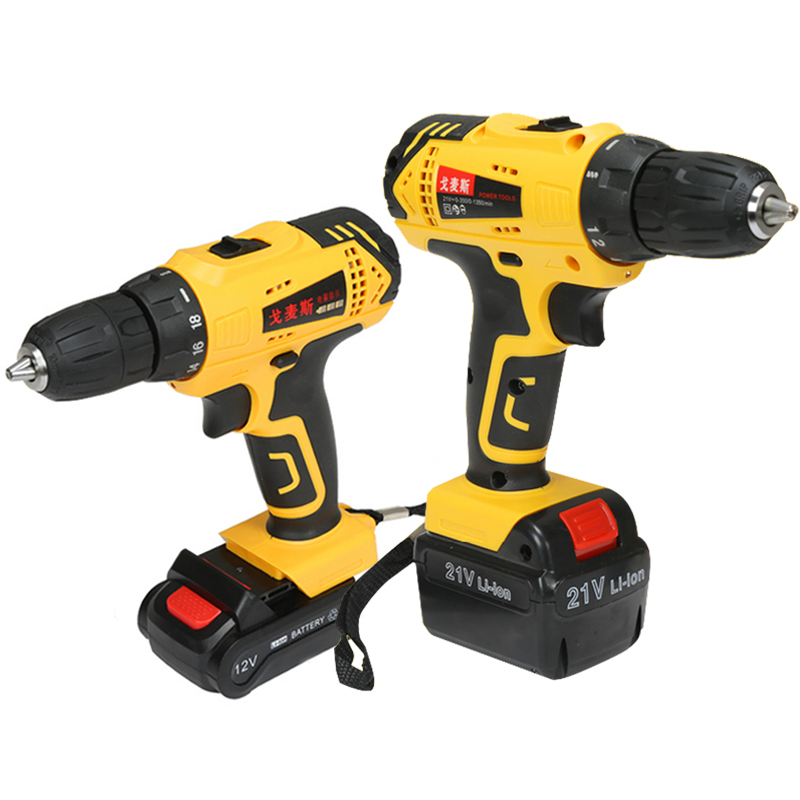 12V/ 21V Cordless Drill 1 Rechargeable Li- Battery Electric Screwdriver Woodworking Mini Drill Herramientas Power Tools