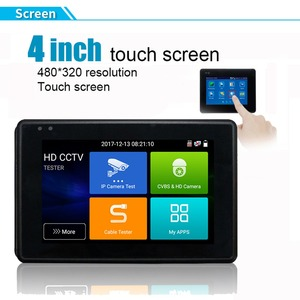 """Image 2 - IPC1800 plus 4"""" IP Camera Tester monitor CCTV TVI CVBS Analog Video Test PTZ Control Touch Screen H.265 4K 8MP 1080P with WIFI"""