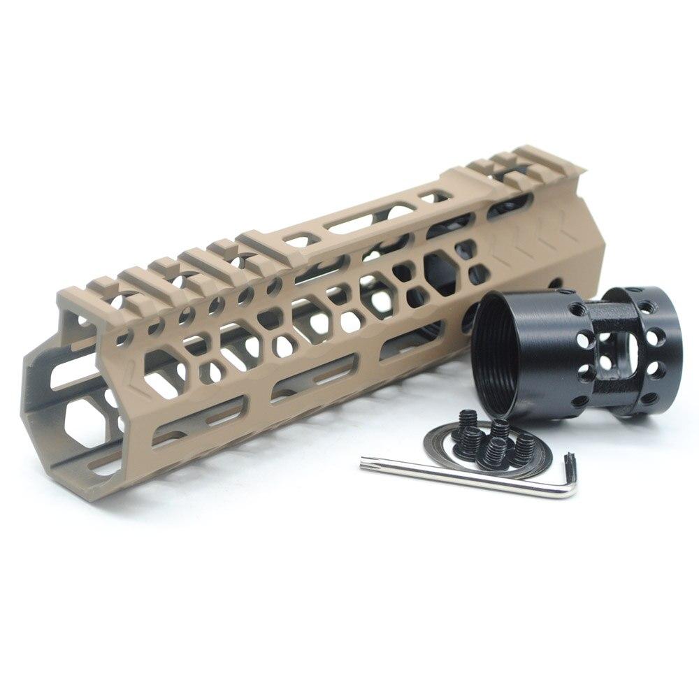 Aplus 7'' inch M-lok Handguard Rail Ultralight Slim Picatinny Mount  System_Black/Red/Tan Color Fit  223/5 56 AR-15