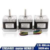 Envío Gratis 40mm Nema17 Motor paso a paso 42 motor Nema 17 42BYGH 1.7A (17HS4401) motor 4-plomo para impresora 3D