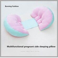 Burning Fashion Sideways sleeping 100% cotton multi-purpose pillow during pregnancy