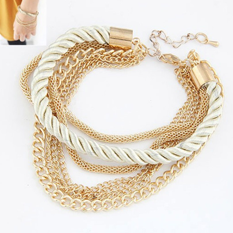 Fashion Multilayer Gold Plated font b Bracelets b font Women Pulseiras Bohemian font b Bracelets b