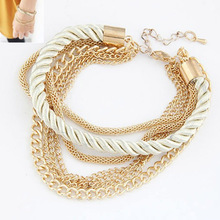 Fashion Multilayer Gold Plated Bracelets Women Pulseiras Bohemian Bracelets Female  Rope Chain Bracelets Pulseras Mujer Berloque