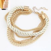 Fashion Multilayer Gold Plated Bracelets Women Pulseiras Bohemian Bracelets Female  Rope Chain Bracelets Pulseras Mujer Berloque