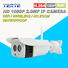 Full HD 1080P 2 0 Megapixel Wireless IP Camera H 264 compression Waterproof Outdoor Two Way