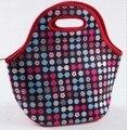 Неопрен обед сумки кулер изоляции обед сумки для женщин тепловой lunch box мешок для детей тотализатор сумочку 6 цветов BLB394B
