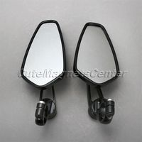 2Pcs Black Universal CNC Aluminum Motorcycle Rearview Mirrors Motorcycle Side Mirrors 7 8 Handle Bar End
